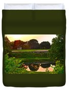 Golf Course Beauty Duvet Cover by Frozen in Time Fine Art Photography