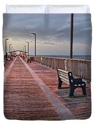 Gulf State Pier Duvet Cover by Michael Thomas