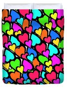 Hearts Duvet Cover by Louisa Knight