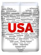 I Love Usa Duvet Cover by Aged Pixel