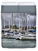 In The Harbor Duvet Cover by Cheryl Young