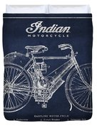 Indian motorcycle Duvet Cover by Aged Pixel