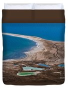 Israel Dead Sea  Duvet Cover by Dan Yeger