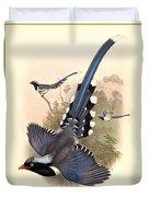John Gould Birds Duvet Cover by Gary Grayson