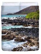 Keanae Lava Rock Duvet Cover by Jenna Szerlag