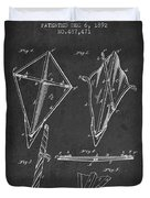 Kite Patent From 1892 Duvet Cover by Aged Pixel