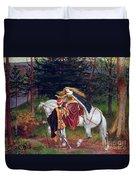 La Belle Dame Sans Merci Duvet Cover by Walter Crane
