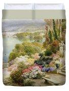 Lake Maggiore Duvet Cover by Ebenezer Wake-Cook