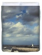 Lighthouse At Whitehaven Duvet Cover by Amanda And Christopher Elwell