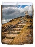 Lighthouse Steps Duvet Cover by Adrian Evans