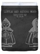 Little Red Riding Hood Patent Drawing From 1943 Duvet Cover by Aged Pixel