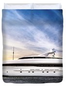 Luxury Yacht Duvet Cover by Elena Elisseeva