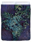Mechanical - Heart Duvet Cover by Fran Riley