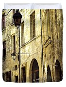 Medieval Street In France Duvet Cover by Elena Elisseeva