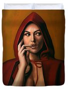 Monica Bellucci Duvet Cover by Paul Meijering