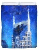 Nashville Skyline Duvet Cover by Dan Sproul