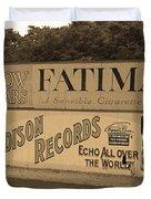 Old Time Baseball Field Duvet Cover by Frank Romeo