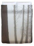 Out of the Fog Duvet Cover by Mike  Dawson