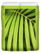 Palm Tree Leaf Duvet Cover by Elena Elisseeva