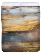 Patterns Of The Land Duvet Cover by Mike  Dawson