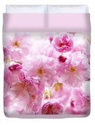 Pink Cherry Blossoms  Duvet Cover by Elena Elisseeva