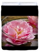 Pink Roses Duvet Cover by Frank Tschakert