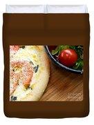 Pizza Duvet Cover by Edward Fielding