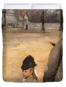 Place de la Concorde Duvet Cover by Edgar Degas