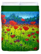 Poppy Field Duvet Cover by John  Nolan