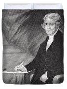 Portrait of Thomas Jefferson Duvet Cover by Alonzo Chappel