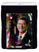 President Ronald Reagan Duvet Cover by Official White House Photograph
