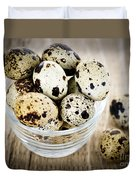 Quail Eggs Duvet Cover by Elena Elisseeva
