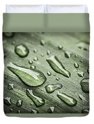 Raindrops On Leaf Duvet Cover by Elena Elisseeva