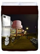 Rock N Roll Hall Of Fame Duvet Cover by Frozen in Time Fine Art Photography