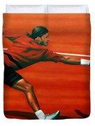 Roger Federer Duvet Cover by Paul  Meijering