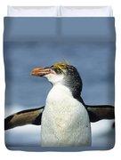 Royal Penguin Macquarie Isl Antarctica Duvet Cover by Konrad Wothe