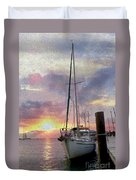 Sailboat Duvet Cover by Jon Neidert