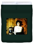 She'd Been Murdered Duvet Cover by Luis Ludzska