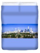 Skyline Of Uptown Charlotte North Carolina Duvet Cover by Alex Grichenko