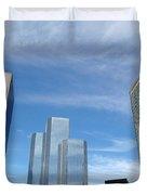 Skyscrapers Duvet Cover by Michal Bednarek