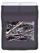 Snowfall And Tree Duvet Cover by Elena Elisseeva