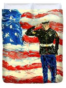 So Proudly They Hailed Duvet Cover by Mark Moore