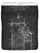 Space Capsule Patent from 1963 Duvet Cover by Aged Pixel