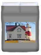 Startford Point Light Duvet Cover by Catherine Reusch  Daley