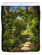 Summer Garden And Path Duvet Cover by Elena Elisseeva