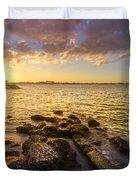 Sunset Light Duvet Cover by Debra and Dave Vanderlaan