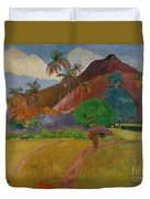 Tahitian Landscape Duvet Cover by Paul Gauguin