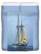 Tall Ship Harvey Gamage Duvet Cover by Skip Willits