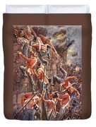 The 5th Division Storming By Escalade Duvet Cover by William Barnes Wollen