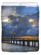 The Pier Duvet Cover by Debra and Dave Vanderlaan